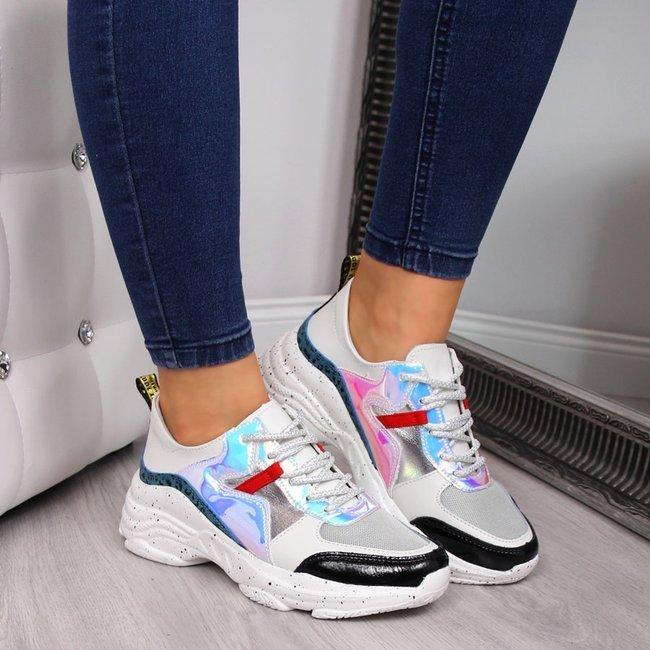Sneakersy damskie skórzane na koturnie T.Sokolski