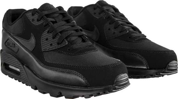 Sneakersy męskie skórzane czarne Nike Air Max 90 ESSENTIAL 090