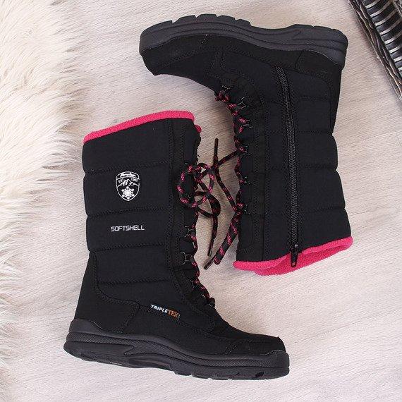 Śniegowce dziecięce wodoodporne zimowe czarne American Club