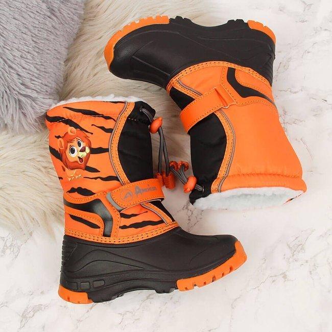 Śniegowce pomarańczowo czarne American Club