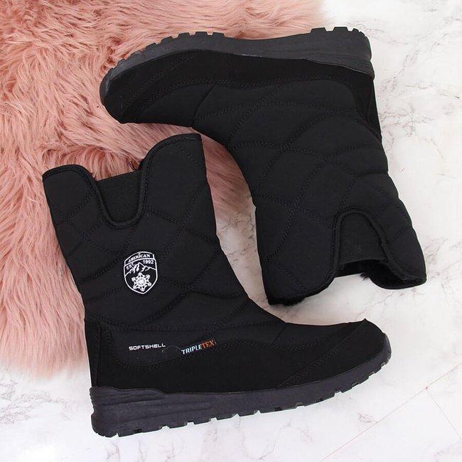 Śniegowce wodoodporne czarne American Club