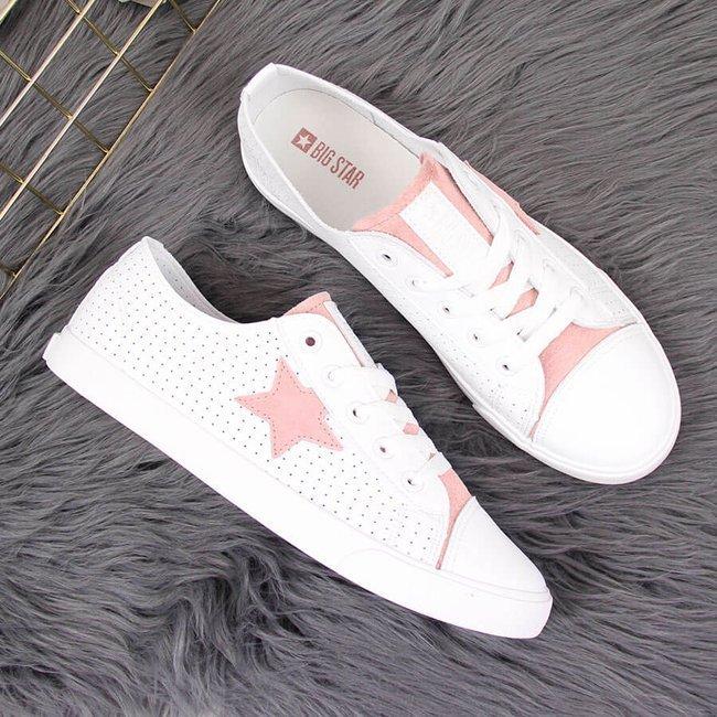 Tenisówki damskie ażurowe eko białe Big Star DD274691