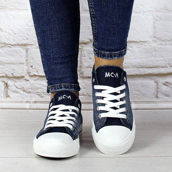 Tenisówki  jeansowe sznurowane przecierane McArthur
