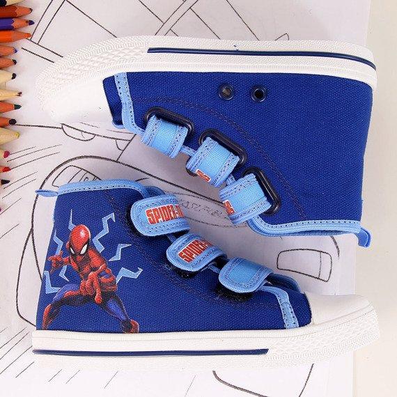 Trampki chopięce na rzep granatowe Spiderman