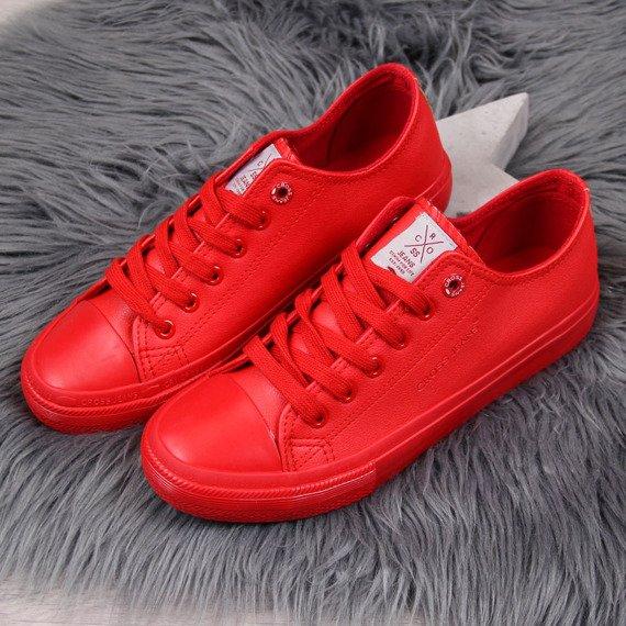Trampki niskie eko skóra czerwone Cross Jeans DD2R4032