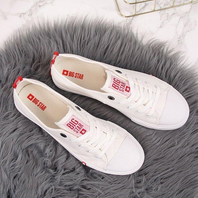Trampki niskie tekstylne białe Big Star FF274087