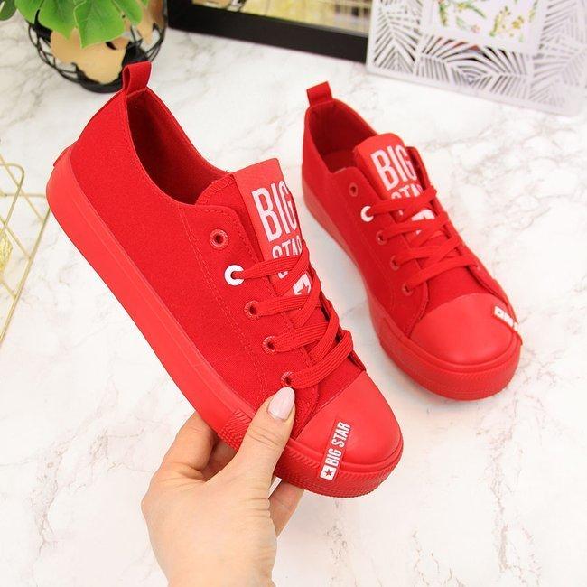 Trampki niskie tekstylne czerwone Big Star HH274677