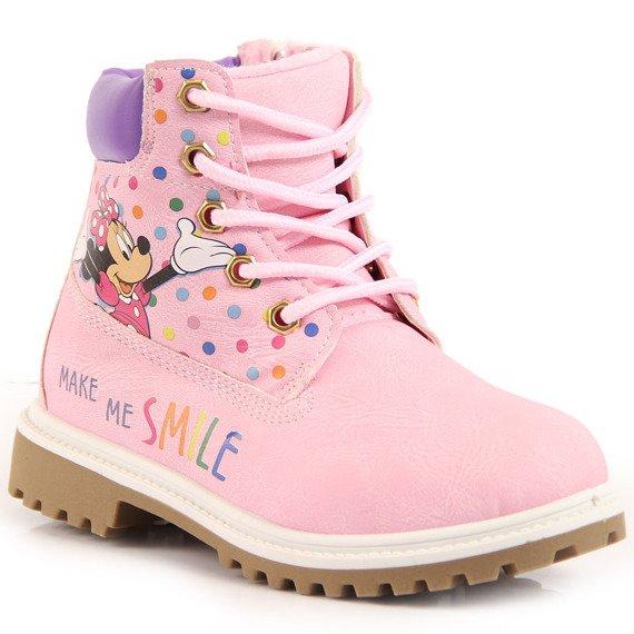 Trapery dziewczęce ocieplane różowe Myszka Minni