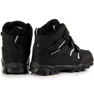 Trzewiki dziecięce trekkingowe zimowe czarne Hasby