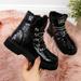 Botki dziewczęce lakierowane kroko czarne Miss❤E